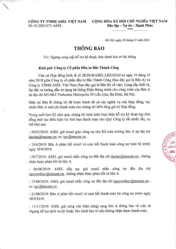 Thong bao Asel